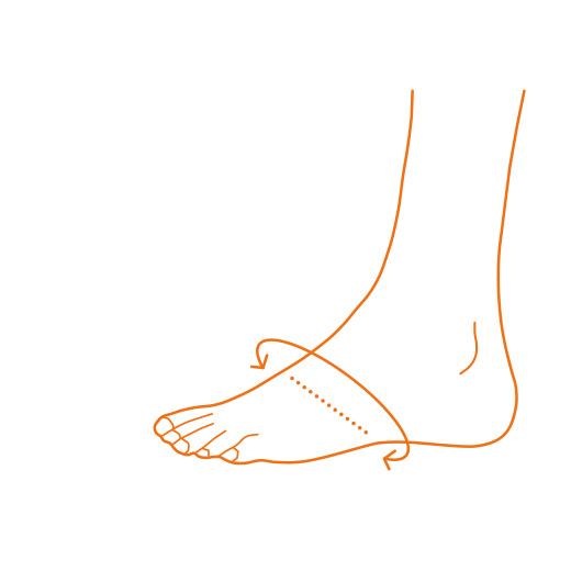 Messung des Fußumfangs